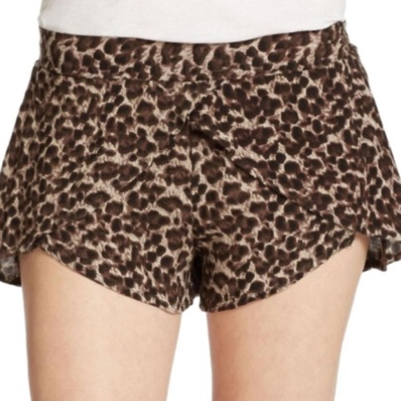 Free People Pants - Free People Cheetah Flow Shorts